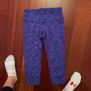 purple patterned athleta leggings